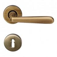 kľučka Alt Wien R MC3 -  mosadz bronz česaný