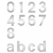 """písmeno """"a"""" inox (nerez) 92x75 mm"""