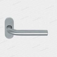 kľučka antikorová Lido UK jednostranná kovová konštrukcia s rozetou oválnou M15 - inox (nerez)