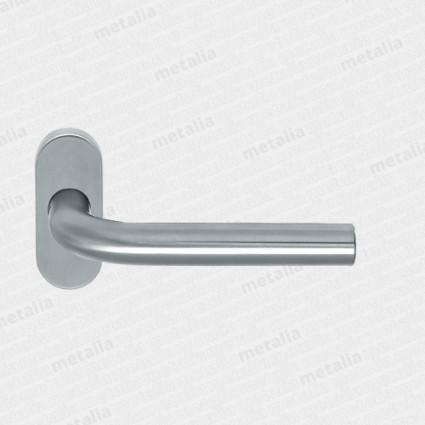 kľučka Lido UK kovová konštrukcia s oválnou rozetou M15 - inox (nerez)