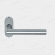 kľučka antikorová Tipo UK jednostranná kovová konštrukcia s rozetou oválnou M15 - inox (nerez)