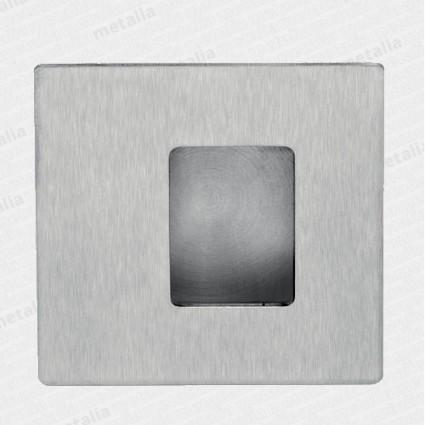 mušľa 01024 M15 110x110 mm asymetrická - inox matný (nerez)
