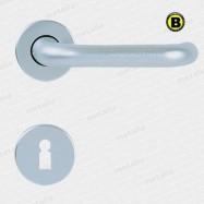 kľučka Modern R F1 - hliník strieborný