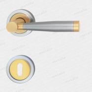kľučka - Dione M2/M50 - mosadz matná/chróm matný