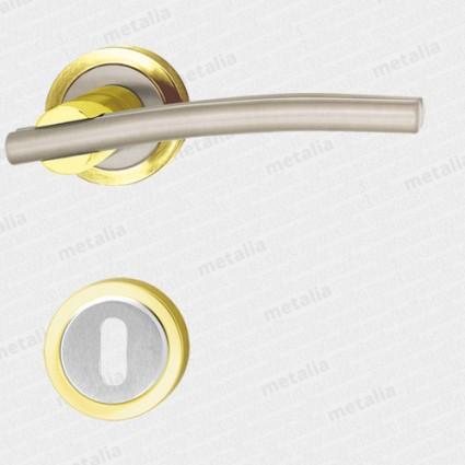 kľučka - Galatea M1/M9 - mosadz zlatá leštená/nikel matný