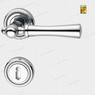 kľučka - Rossetti Carlo R M4 - mosadz chróm leštený