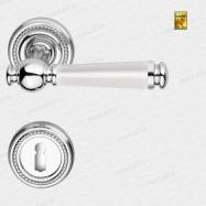 kľučka - Rossetti Enrico R M4/porcelán - mosadz chróm leštený