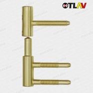 pánty 100/15 mm - mosadz (spodný diel do zárubne)