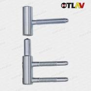 pánty 100/15 mm - zinok (spodný diel do zárubne)