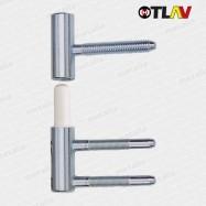 pánty 100/15 mm - nikel matný (vrchný diel do krídla dverí)