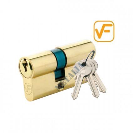 cylindrická vložka VF 25/35mm mosadz - 3 kľúče