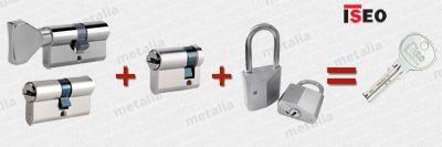 bezpečnostné vložky ISEO CS1 - spoločný uzáver