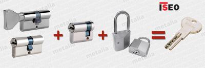 bezpečnostné vložky ISEO R6 - spoločný uzáver