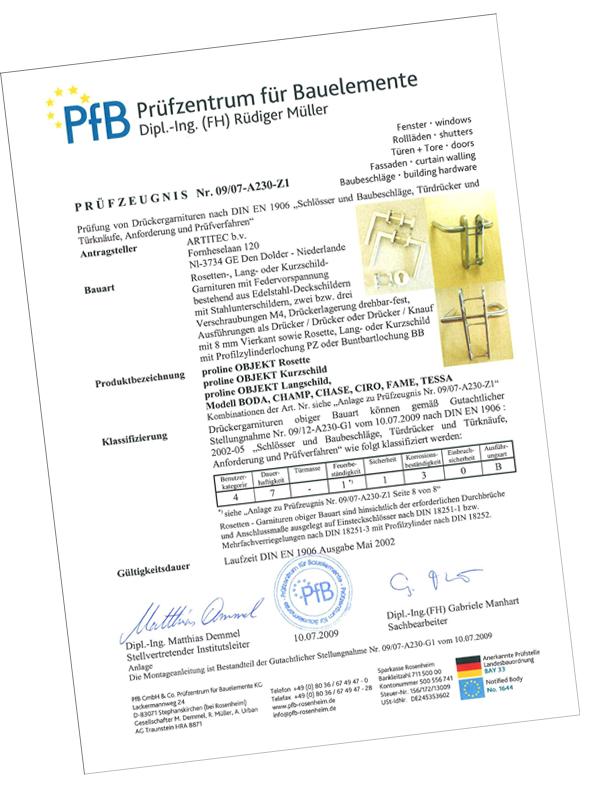 certifikat EN 1906
